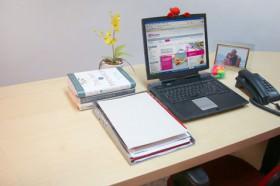 Feng Shui na mesa de trabalho