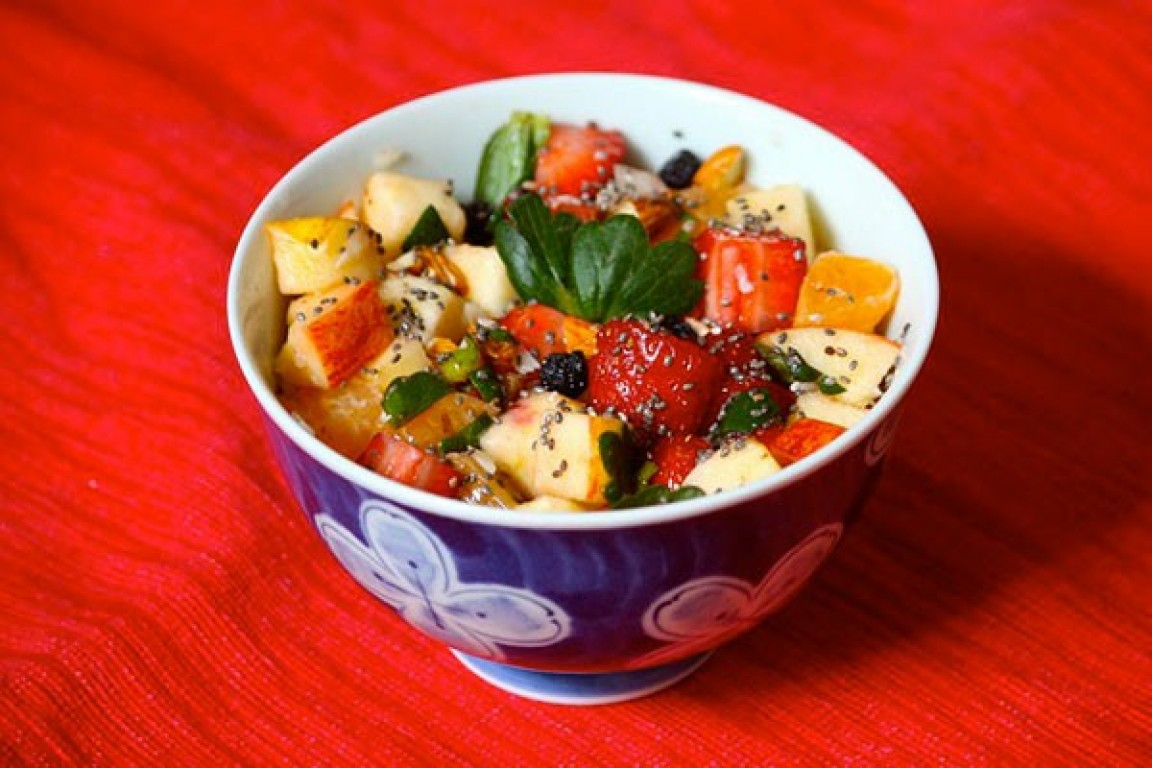 Salada de frutas pura energia