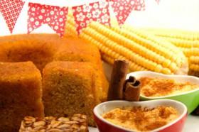 Comidas saudáveis de festa junina